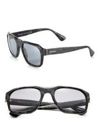 Dunkelbraune Sonnenbrille von Prada