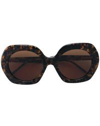 dunkelbraune Sonnenbrille von Thom Browne