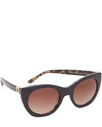 dunkelbraune Sonnenbrille von Tory Burch