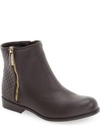 dunkelbraune Stiefel aus Leder