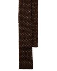 dunkelbraune Strick Krawatte