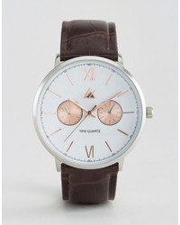 dunkelbraune Uhr von Asos