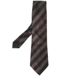 Dunkelbraune vertikal gestreifte Krawatte