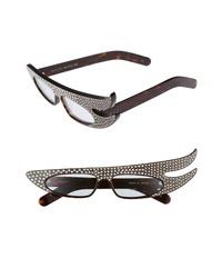 dunkelbraune verzierte Sonnenbrille