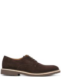dunkelbraune Wildleder Derby Schuhe von Corneliani
