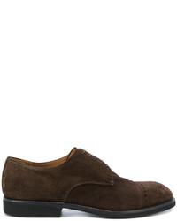 dunkelbraune Wildleder Derby Schuhe von Premiata