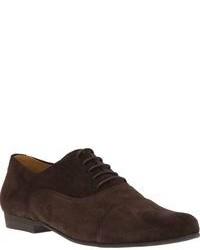 dunkelbraune Wildleder Oxford Schuhe