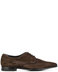 dunkelbraune Wildleder Oxford Schuhe von Paul Smith