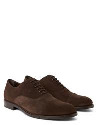 dunkelbraune Wildleder Oxford Schuhe von Tod's
