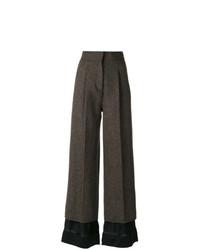 dunkelbraune Wollschlaghose von Maison Margiela