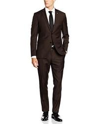 dunkelbrauner Anzug von ESPRIT Collection