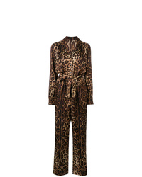 dunkelbrauner bedruckter Jumpsuit von Dolce & Gabbana