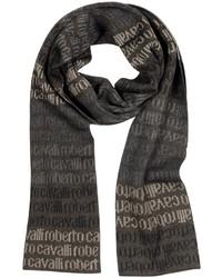 dunkelbrauner bedruckter Schal