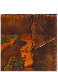dunkelbrauner bedruckter Schal von Avant Toi