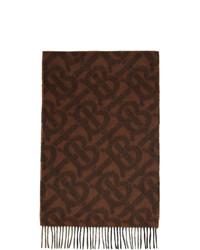 dunkelbrauner bedruckter Schal von Burberry