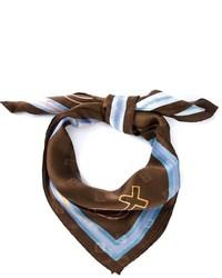 dunkelbrauner bedruckter Schal von Moschino