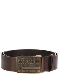 dunkelbrauner Gürtel von DSQUARED2