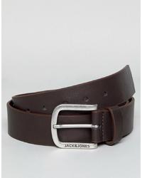 dunkelbrauner Gürtel von Jack & Jones