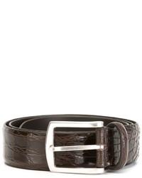dunkelbrauner Ledergürtel von Andrea D'Amico