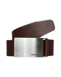 dunkelbrauner Ledergürtel von Calvin Klein
