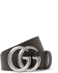 dunkelbrauner Ledergürtel von Gucci