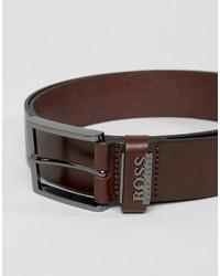 dunkelbrauner Ledergürtel von Hugo Boss