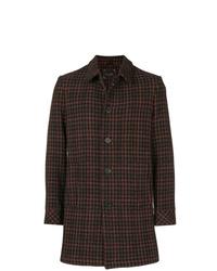 dunkelbrauner Mantel mit Hahnentritt-Muster von Paltò