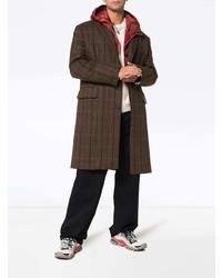 dunkelbrauner Mantel mit Karomuster von Calvin Klein 205W39nyc