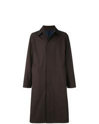 dunkelbrauner Mantel von AMI Alexandre Mattiussi