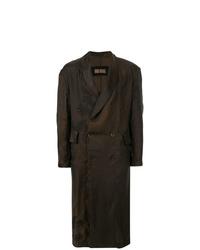 dunkelbrauner Mantel von Uma Wang