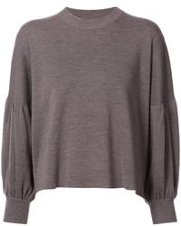 dunkelbrauner Oversize Pullover
