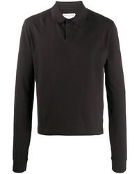 dunkelbrauner Polo Pullover von Bottega Veneta
