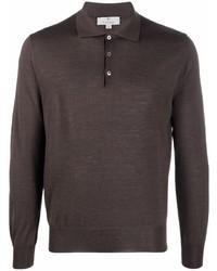 dunkelbrauner Polo Pullover von Canali