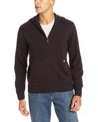 dunkelbrauner Pullover mit einem Kapuze