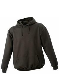 dunkelbrauner Pullover mit einem Kapuze von James & Nicholson