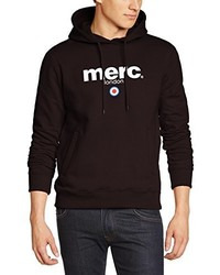 dunkelbrauner Pullover mit einem Kapuze von Merc of London