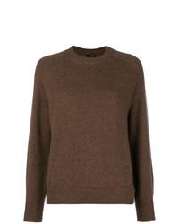 dunkelbrauner Pullover mit einem Rundhalsausschnitt von Aspesi