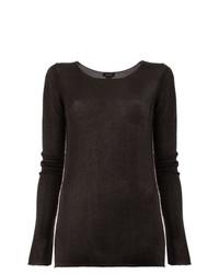 dunkelbrauner Pullover mit einem Rundhalsausschnitt von Avant Toi