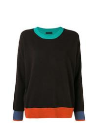 dunkelbrauner Pullover mit einem Rundhalsausschnitt von Etro