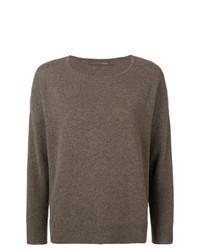 dunkelbrauner Pullover mit einem Rundhalsausschnitt von Incentive! Cashmere