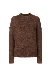 dunkelbrauner Pullover mit einem Rundhalsausschnitt von Isabel Marant
