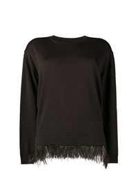 dunkelbrauner Pullover mit einem Rundhalsausschnitt von P.A.R.O.S.H.