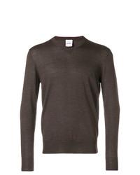 dunkelbrauner Pullover mit einem V-Ausschnitt von Aspesi
