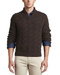 dunkelbrauner Pullover