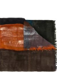 dunkelbrauner Schal von Faliero Sarti