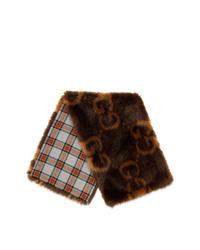 dunkelbrauner Schal von Gucci