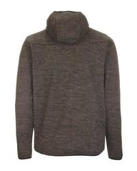 dunkelbrauner Strick Fleece-Pullover mit einem Kapuze von Killtec