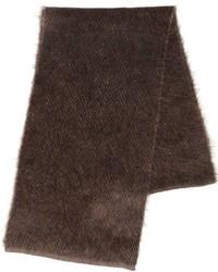 dunkelbrauner Strick Schal