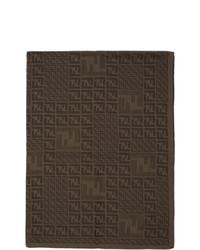 dunkelbrauner Strick Schal von Fendi