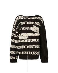 dunkelbrauner Strickpullover von Calvin Klein 205W39nyc